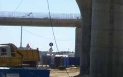 У метро  Щелковская  начали строить эстакаду