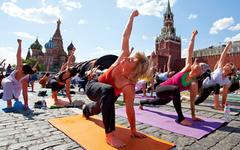 Йоги устроят марафон на Красной площади