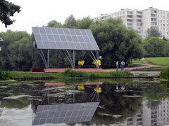 В парке Алтуфьево появилась первая солнечная система освещения
